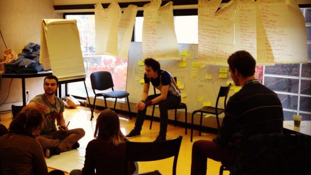 Séance de créativité pendant les 48h pour faire vivre des idées à l'ENSGSI